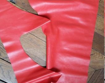 Calf leather scraps