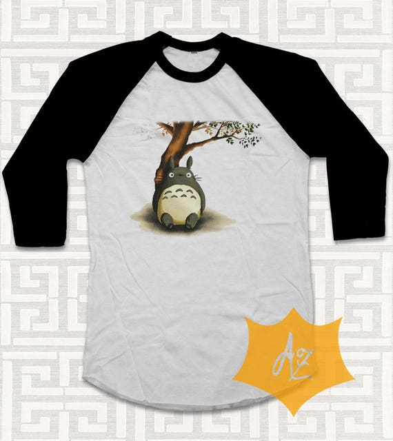Totoro Shirt Tshirt 3/4 Shirt Raglan For Men and Women