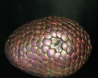 Maroon, Dark Pink & Purple Handmade with an Eye Looking out at You Dragon Egg Adopt a friend for Yourself or Give as a Great Christmas Gift