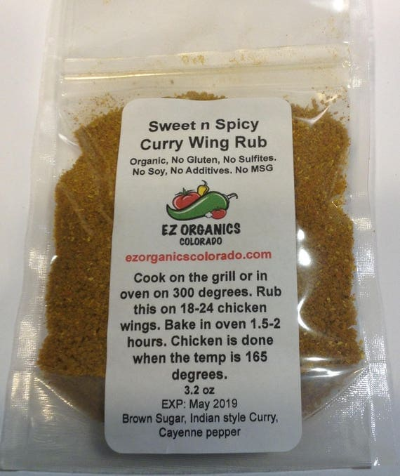 NEW Organic  Sweet N Spicy Curry Wing Rub Must TRY! NEW