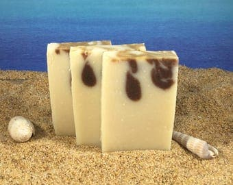 Butter Me Up Mini Soap / Homemade Natural Cocoa Butter Soap made with Essential Oil, Guest size, Handmade Shea Mango Aloe Vera Soap