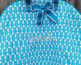 Teal/Turquoise Arrow Quilted Garment Bag - Personalized/Monogrammed - Horse Show