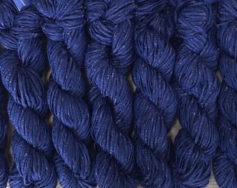 Berroco BONSAI Bamboo Yarn 9.99+.99ea to Ship Matte Shiny Ribbon Yarn - Blue 4133 Indigo Blue - Soft, Weighty, Drapey, Elegant, So Chic!