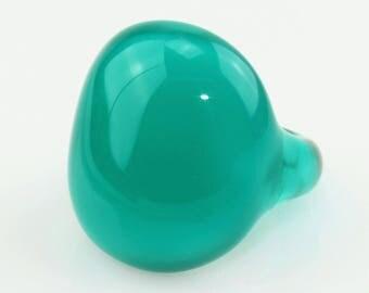 Ring (borosilicate glass) turquoise Green