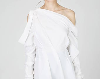 SS17, Eden White Cotton Off Shoulder Blouse by Other Theory, 17SS078