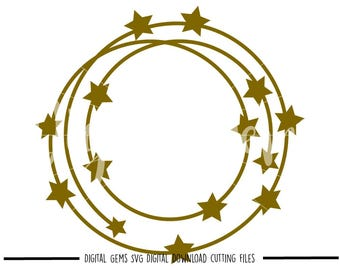 Star Frame, Tribal Circle, svg / dxf / eps files. Digital download. Compatible with Cricut and Silhouette machines. Small commercial use ok.