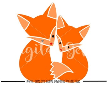 Fox svg / dxf / eps / png files. Digital download. Compatible with Cricut and Silhouette machines. Small commercial use ok.