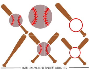 Baseball svg / dxf / eps / png files. Digital download. Compatible with Cricut and Silhouette machines. Small commercial use ok.