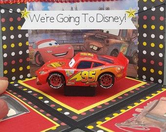 Handmade Cars Disney Trip Exploding Box Card