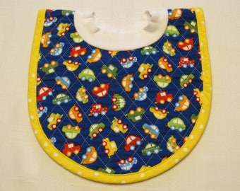 Cars Pop-on Quilted Baby Bib