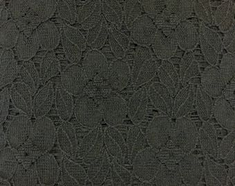Black Corded Lace - 100% Polyester