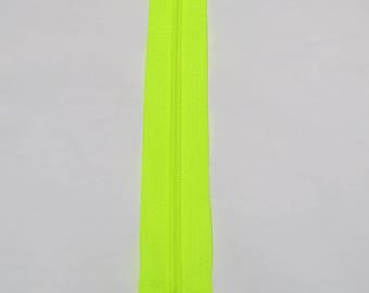 Spiral 25 cm neon yellow zipper closure