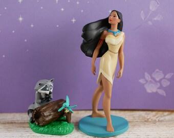 Pocahontas and Meeko cake toppers, set of 2 pc, Pocahontas and Meeko cake decoration