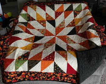 Autumn quilt | Etsy : fall quilt - Adamdwight.com