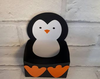 Penguin gift box / Christmas gift box / party / penguins/ kids gifts