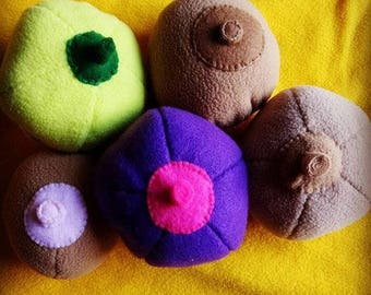 Breast model for lactation consultation or breastfeeding training props plush toy