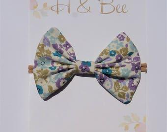 Lavender Floral Handmade Bow