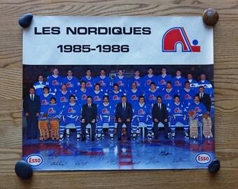 1985-86 QUEBEC Nordiques Poster - 18.5 x 23 - Vintage NHL - Hockey Team Poster