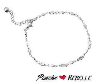 Anklet with patterns of steel stainless hypoallergenic / / gift, wife, daughter, gift, mother, minimalist Passion rebel
