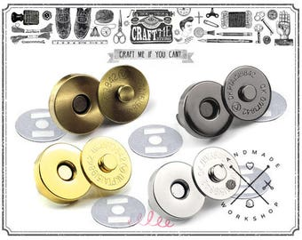 10 Sets 18 mm Heavy Duty Magnetic Snaps Closure Button Strong Force Clasps Premium Quality