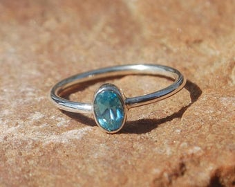 ON SALE Natural London Blue Topaz Ring - Gemstone Ring - Gemstone Jewelry - Handmade Jewelry