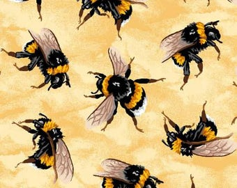 You Bug Me, Bees, Bee Fabric, Bug Fabric, Insect Fabric, Fabric with Insects, by Paintbrush Studio, 12013851