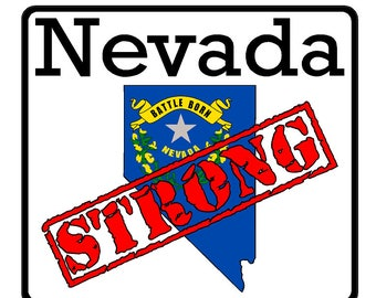 Nevada State (K29) Strong Flag Vinyl Decal Sticker Car/Truck Laptop/Netbook Window