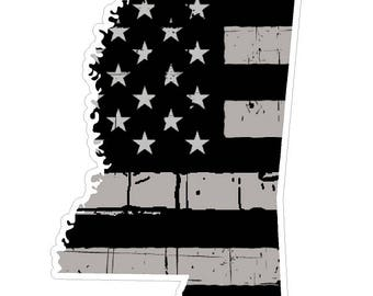 Mississippi State (N25) Distressed Flag Vinyl Decal Sticker Car/Truck Laptop/Netbook Window