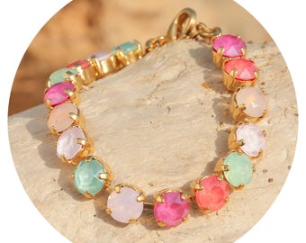 artjany gold bracelet pastel colorful mix