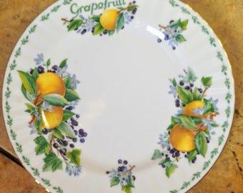 Vintage Royal Albert China Medium Salad Dessert Plate in the 'Grapefruit' Design