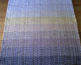 Rag tapijt vintage turks hall loper roze blauw grijs streep - Corridor tapijt ...