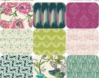 ON SALE JOIE De Vivre - by Bari J for Art Gallery Fabrics -  Fat Quarter Bundle - 9 Prints