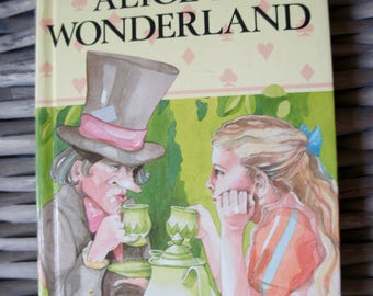 Vintage Ladybird Children's Classics Alice In Wonderland By Lewis Carroll Retold By Joan Collins, Hard Back Book, Gift, Daughter, Sister