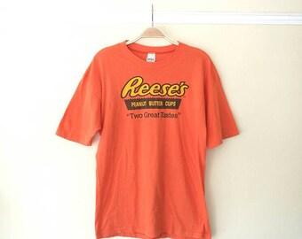 Vintage  T-shirt Reese's 50/50 t-shirt Orange