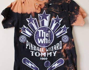 Splatter Bleached and Shredded The Who T Shirt Small