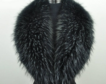 100% Real Raccoon Fur - Collar Made to order