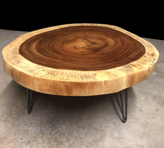 SALE! Guanacaste Live Edge Round Coffee Table Ready to Ship!