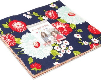 """Moda ~ The Good Life ~ (42) 10"""" Cotton Quilting Squares Fabric ~ 55150LC"""