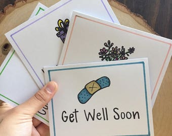 Pack of Greeting Cards | Birthday, Symphathy, Congrats, Thanks Card Set | Set of Four All Occasion Doodle Greeting Cards