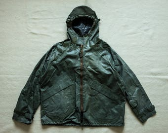 60's Vietnam USN Foul Weather Deck Smock Anorak Jacket Taped Seams Rain Olive Drab Pullover Nigel Cabourn rrl lvc filson N-1 biker biking