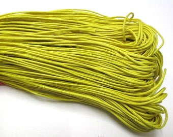 10 meters lemon yellow waxed cotton thread 1 mm