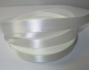 5 m white 12mm colored satin ribbon