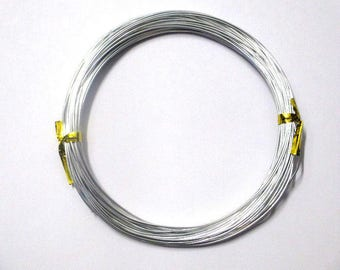 10 m silver 0.8 mm reel aluminum wire
