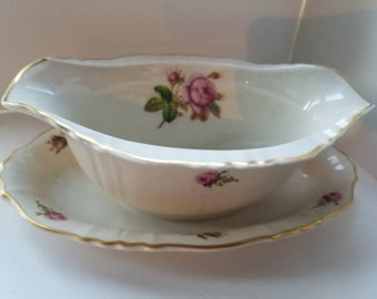 Federal Syracuse Gravy Boat with Underplate