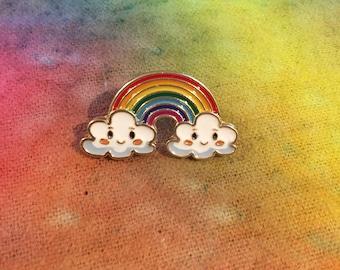 Happy Cute Rainbow Hat Pin