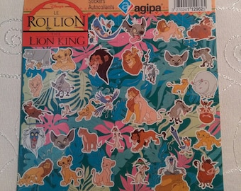 Vintage The Lion King Stickers-Disney,product of France by AGIPA