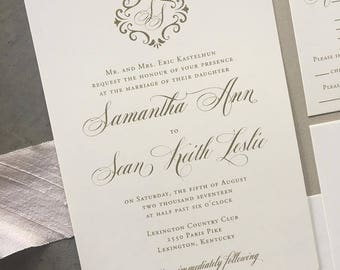 Sample Romantic Filigree wedding invitation suite