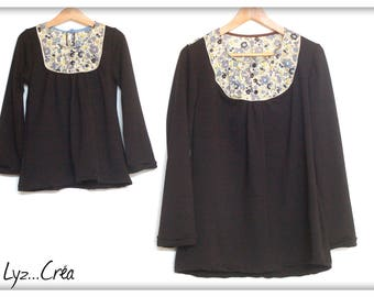 Made to order * Duo blouses mother/daughter jersey and Liberty