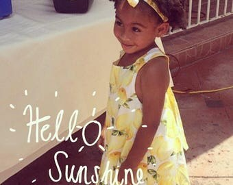 Lemons Reversible Baby/Toddler Dress