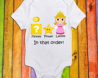 Money Power Ladies//Short Sleeve Shirt//Bodysuit for Baby//Toddler//Baby Shower Gift//Baby Clothes//Toddler T Shirt//Gamer//Birthday Shirt